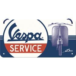 """Blaszany szyld wieszany dla motocyklisty VESPA """"Service"""""""