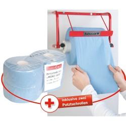 Uchwyt ścienny Rothewald na papierowe ręczniki + 2 rolki