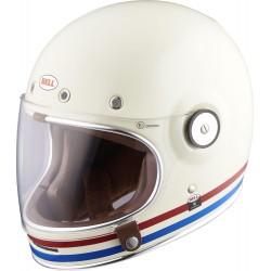 Kask motocyklowy BELL BULLITT STRIPES biało-czerwono-niebieski