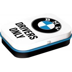 """Miętówki w metalowym opakowaniu BMW """"DRIVERS ONLY"""" dla motocyklisty"""