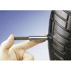 Przyrząd wskazujący stopień zużycia bieżnika opony motocyklowej