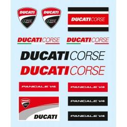 DUCATI - Zestaw naklejek DUCATI 12/szt.