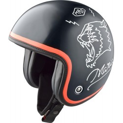 Nexx X.G10 Drake kask motocyklowy otwarty BLACK/WHITE/RED