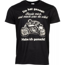 "Koszulka ""Fessle Mich"" dla motocyklisty"