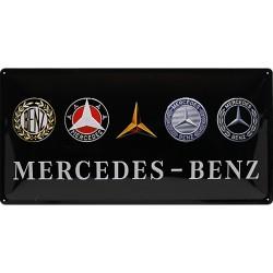 Blaszany szyld dla motocyklisty Mercedes-Benz Evolution Wymiary: 50x250 cm