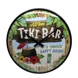 Zegar ścienny retro Tiki Bar średnica: 31 cm