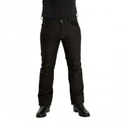 Highway 1 Nubuck Spodnie skórzane męskie czarne