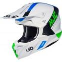 HJC i50 Erased  kask crossowy biało niebiesko zielony