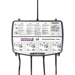 Czterokanałowa ładowarka OptiMATE 3 x 4 i urządzenie diagnostyczne