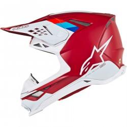 Alpinestars Supertech S-M8 Motocross czerwono biały