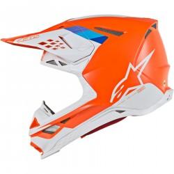 Alpinestars Supertech S-M8 Motocross pomarańczowo biały
