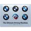 """BMW  Plakietka emaliowana BMW """"Logos"""" Wymiary: 40x30 cm"""
