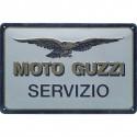 Moto-Guzzi Metal Sign Servizio Size: 30 x 20 cm