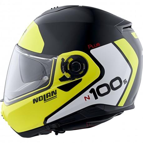 Nolan N100-5 Plus Destinctive n-com Kas typu flip -up szczękowy czarno żółty