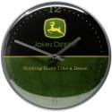 Zegar ścienny retro John Deere Logo Czarno-zielony  średnica : 31 cm