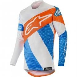 Koszulka MX Alpinestars Racer Tech Atomic, szaro-niebieska