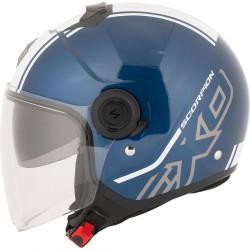 Scorpion Exo-City kask typu  Jet niebieski