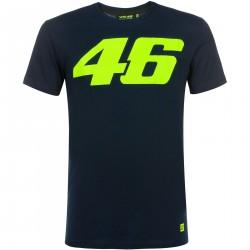 Koszulka z logo VR46 niebieska męska